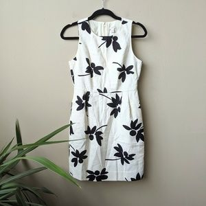 J. Crew Factory Petite Floral Ivory Mini Dress 2P